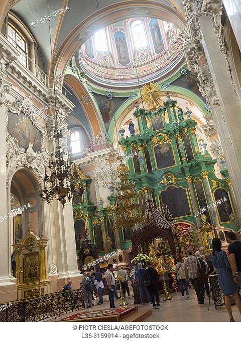 Orthodox church of Holy Trinity, Old Vilnius, Lithuania