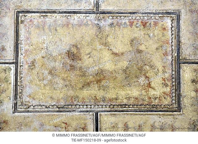 Presentation of the cleaning work on the frescoes in the Room of Achille a Sciro in the Domus Aurea .The frescoes tell how Achille hidden from the mother Teti...