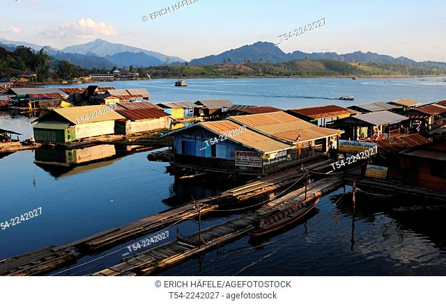 Floating village in Sanglaburi