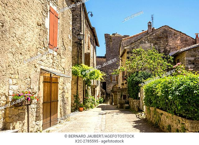 The village of Sainte Eulalie de Cernon, Unesco World Heritage, Grands Causses Natural Regional Park. Aveyron. France. Europe