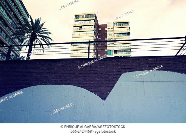 Buildings, Benidorm, Alicante province, Valencia, Spain