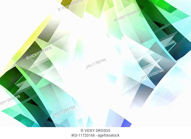 Abstract backgrounds pattern of multi-layered translucent diamond shapes