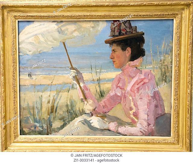 'portrait of mrs. D. Calisch-Hijmans' by Isaac Israels at Kroller Muller museum, Otterloo, Holland