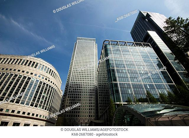 United Kingdom, England, London, Canary Wharf skyscrapers