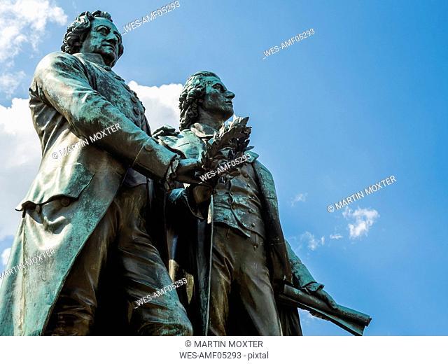 Germany, Weimar, Goethe-Schiller Monument