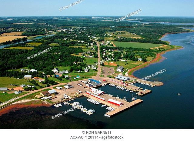 aerial, harbour, Northport, PEI