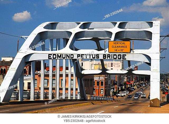 Edmund Pettus Bridge, Civil Rights Landmark, Selma, Alabama