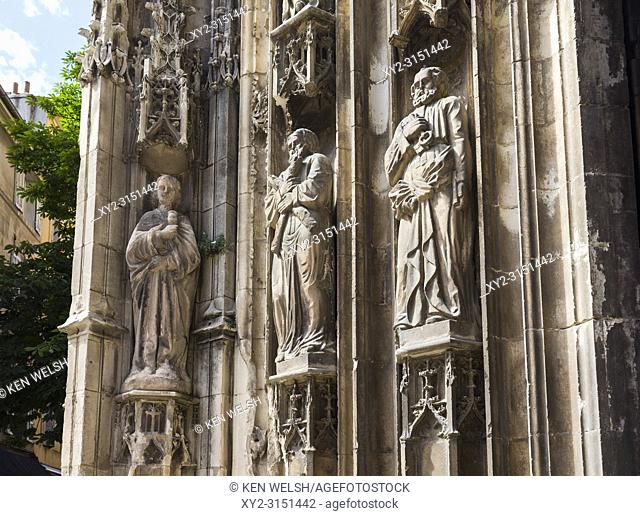 Aix-en-Provence, Provence-Alpes-Côte d'Azur, France. Cathedral of the Holy Saviour. Cathédrale Saint-Sauveur d'Aix-en-Provence
