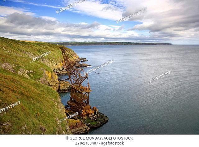 """The 1987 Wreck of the """"""""Samson"""""""" Crane Ship, Ram Head, Ardmore, County Waterford, Ireland"""