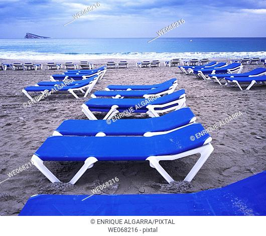 Levante Beach, Benidorm, Alicante province, Spain