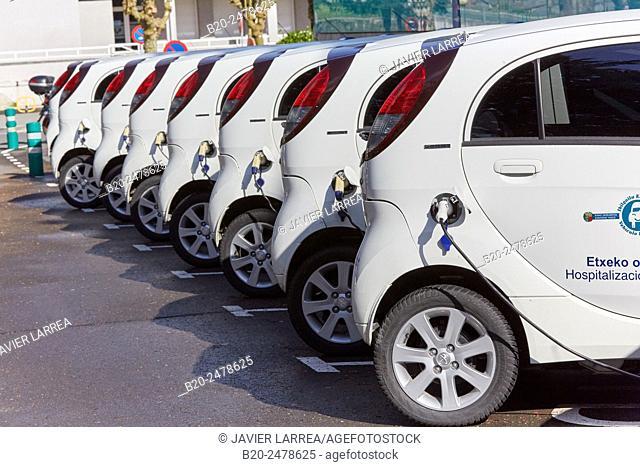 Electric cars, home hospitalization, Hospital Donostia, San Sebastian, Gipuzkoa, Basque Country, Spain