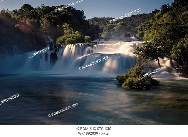 Skradinski Buk waterfall, National Park, Croatia