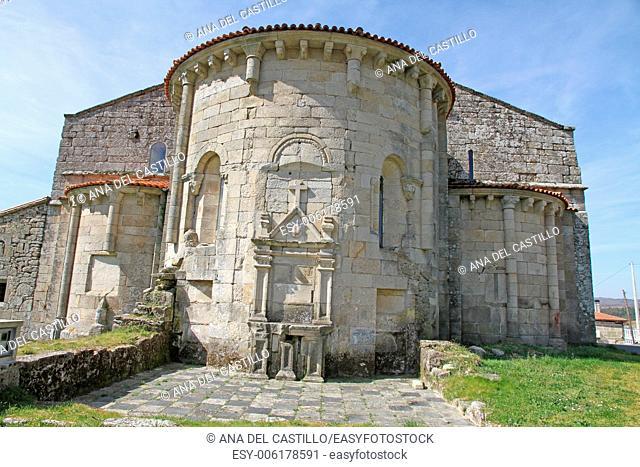 Santa Maria de Xunqueira de Espadanero romanesque church Orense Galicia Spain