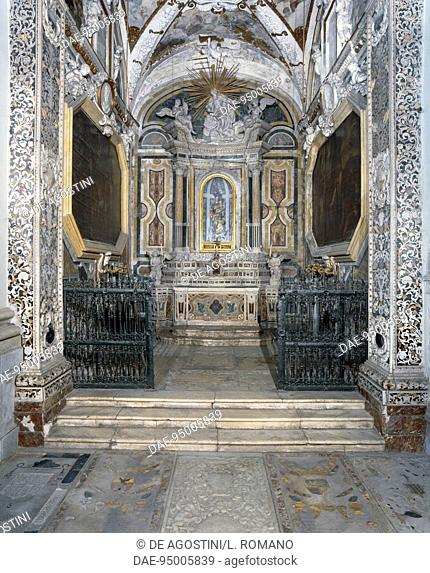 Our Lady of Guadalupe Chapel, in the Church of St Mary of the Angels, or of the Gancia, 1490-1510, Palermo, Sicily, Italy
