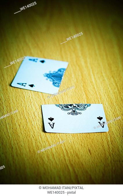 Ace of hearts cut in half