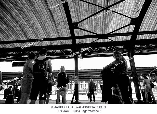 Railway platform and roof, colmar, france, europe