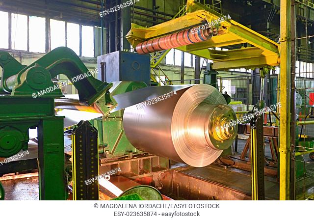 Zinc coils of stell in steel plant