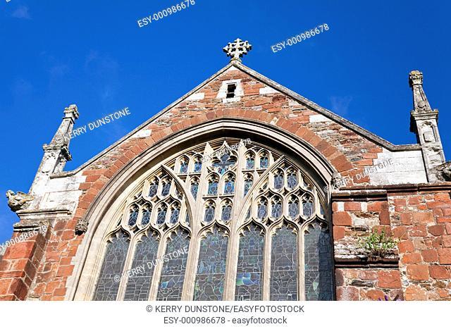 England Devon Totnes Parish Church of St  Mary window detail