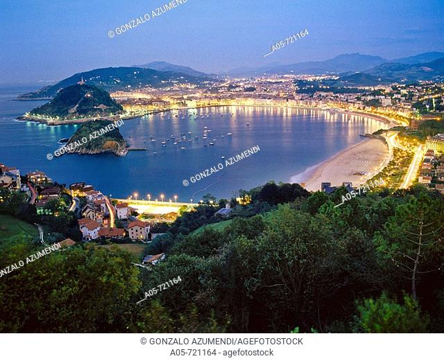 La Concha bay, San Sebastian. Guipuzcoa, Basque Country, Spain