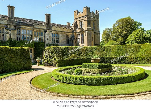 Sudeley Castle is a castle located near Winchcombe, Gloucestershire, England. It dates from the 10th century, but the inhabited portion is chiefly Elizabethan
