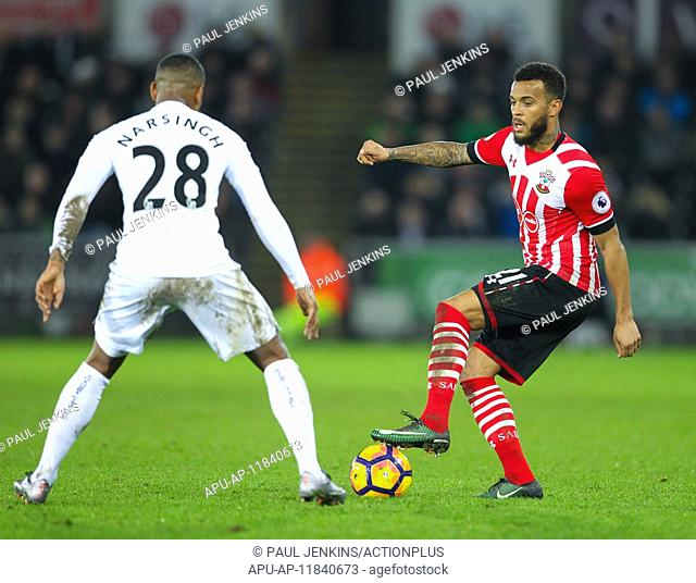 2017 Premier League Football Swansea v Southampton Jan 31st. January 31st 2017, Liberty Stadium, Swansea, Wales ; EPL Premier league football
