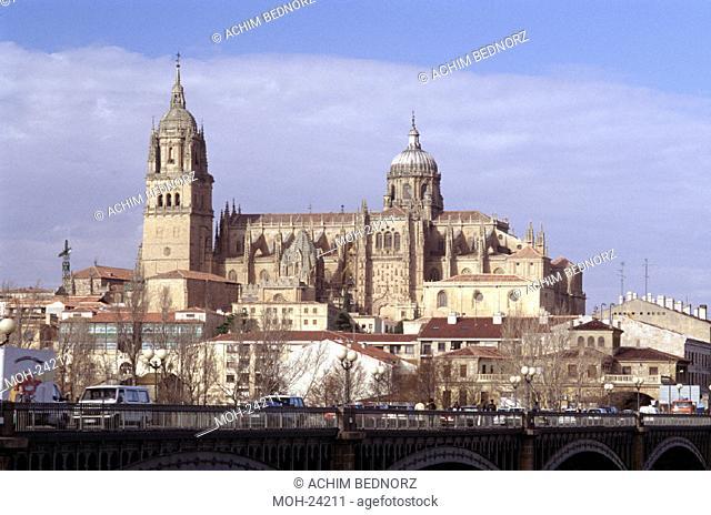 Salamanca/ Kathedrale, Blick von Süden