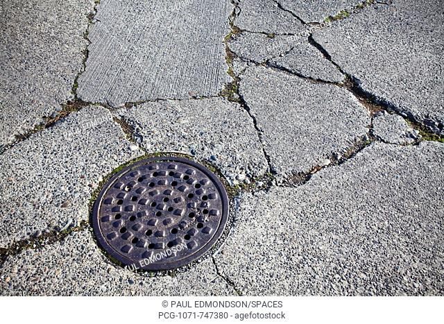 Manhole Cover in the Street