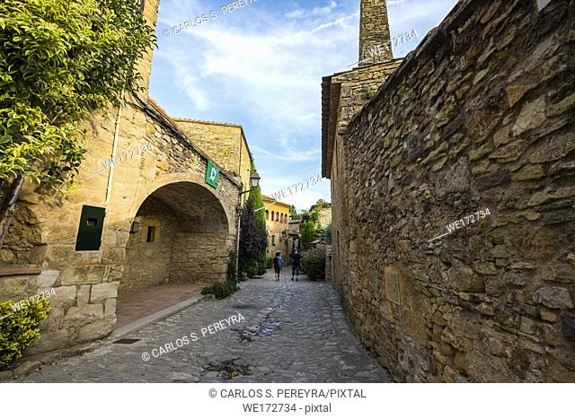 Medieval town of Peratallada in the province of Girona in Catalonia Spain