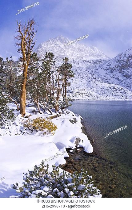 Clearing storm over the Sierra crest from Gem Lake, John Muir Wilderness, Sierra Nevada Mountains, California USA