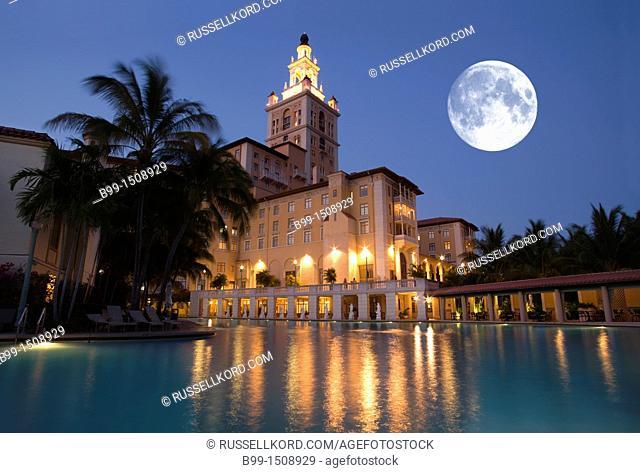 Swimming Pool Historic Biltmore Hotel Coral Gables Miami Florida USA