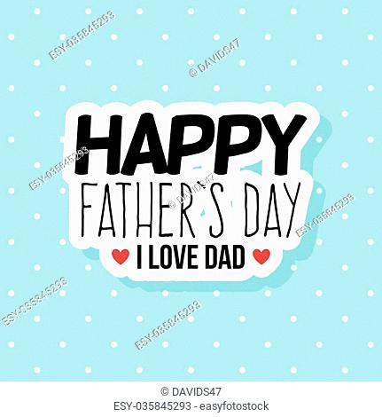 abstract happy father day label on a special background