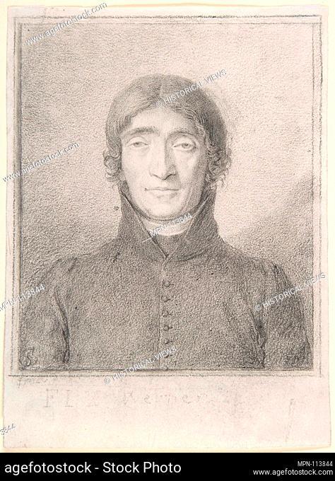Portrait of the Poet Friedrich Ludwig Zacharias Werner. Artist: Ludwig Ferdinand Schnorr von Carolsfeld (German, Königsberg