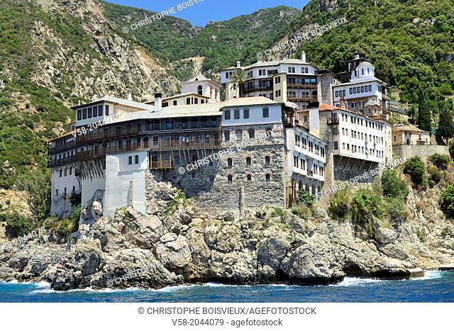 Greece, Chalkidiki, Mount Athos peninsula, World Heritage Site, Grigoriou monastery