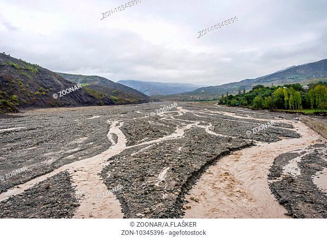 River valley in Lahich, Azerbaijan
