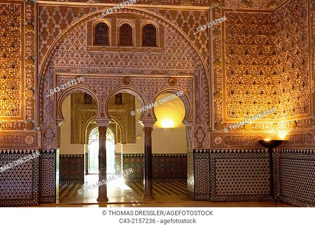 The Salon of the Ambassadors in the Alcázar of Seville. Seville province, Andalusia, Spain