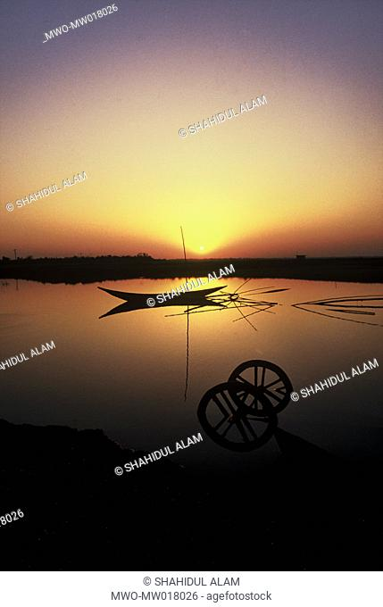A sunset scene Chatmohor, Pabna, Bangladesh