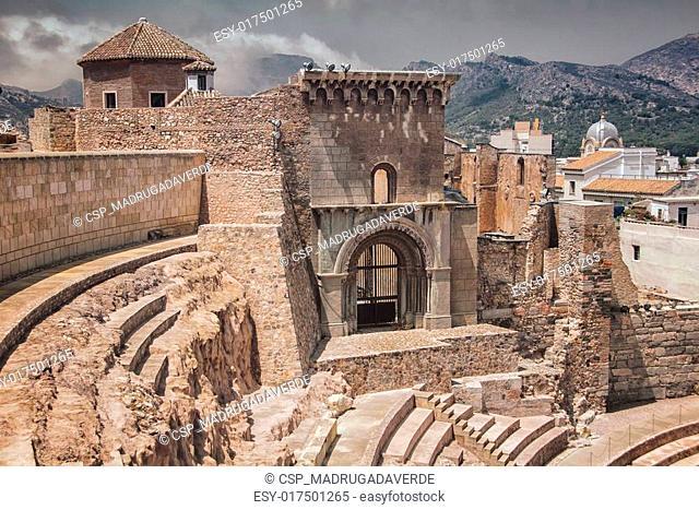 Roman ruins in Cartagena