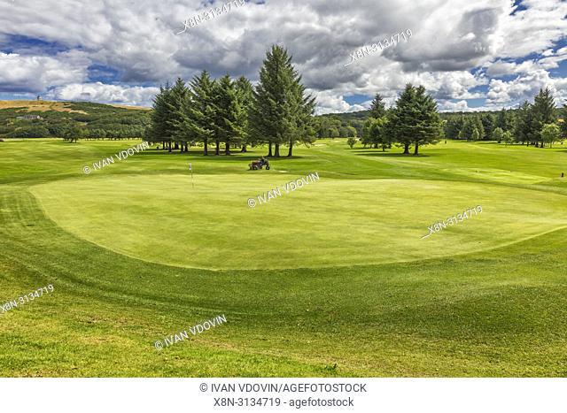 Golf field, Banff, Aberdeenshire, Scotland, UK