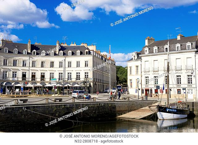 Vannes, City, Old Town, Port, Morbihan, Bretagne, Brittany, France, Europe.