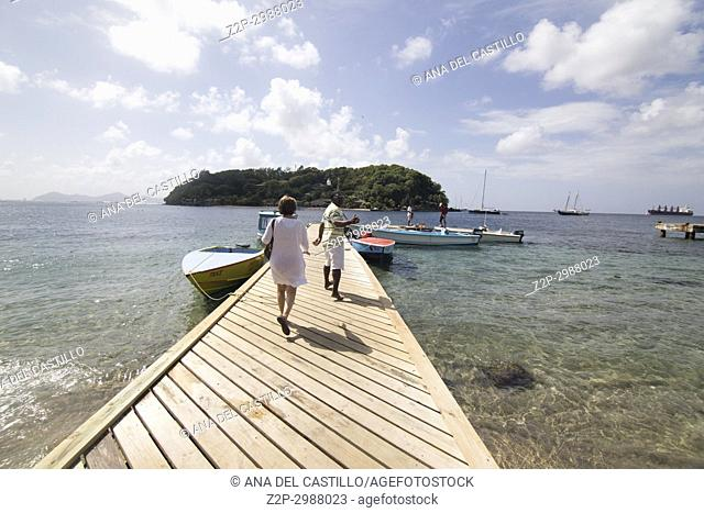 Young island near Kingstown Saint Vincent and the Grenadines Caribbean sea