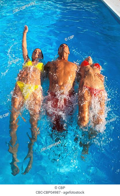 People in Swinnming Pool