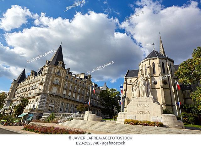 World War memorial, San Martin church, Pau, Pyrenees - Atlantiques, Aquitaine, France