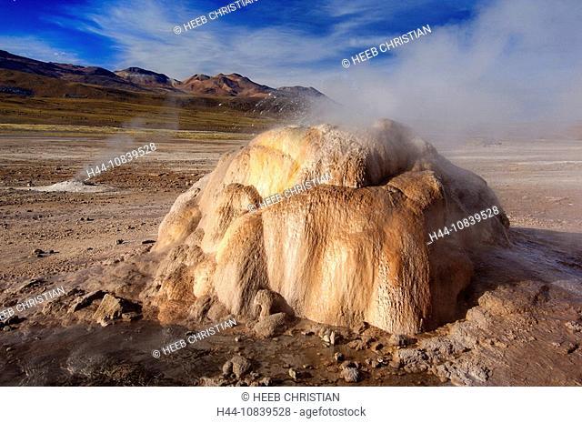 Chile, South America, Tatio Geysers, San Pedro de Atacama, Altiplano, Antofagasta, landscape, South America, volcanism