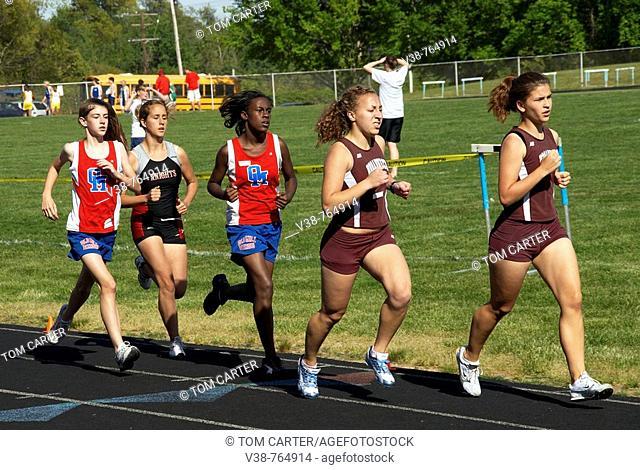 girl high school track meet in Chesepeake, Md