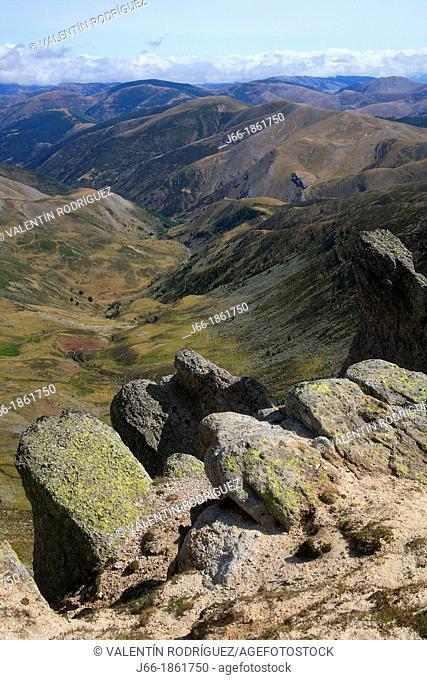 Landscape from the peak Urbión  Soria