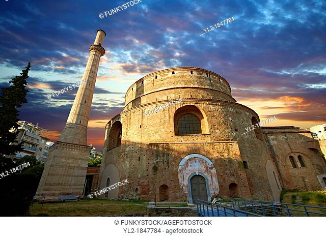 4th century Roman rotunda Church of Agios Georgios or the Rotunda of St  George built in 311 as the mauselum of Galerius but never used  Converted by Emperor...
