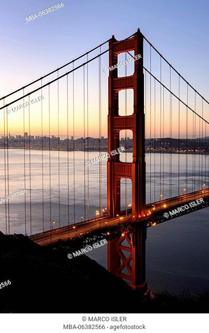 Golden Gate Bridge, the USA, California, San Francisco