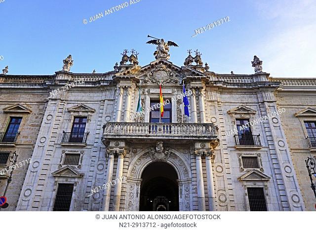 University of Seville main entrance. Seville, Andalucia, Spain, Europe