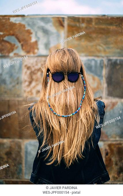 Sunglasses in the hair
