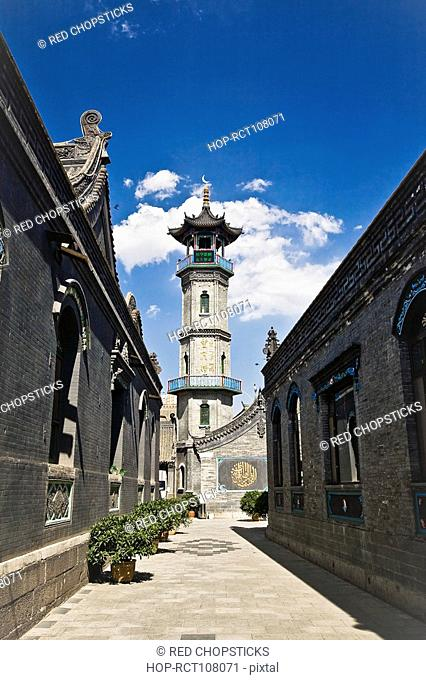 Low angle view of a mosque, Great Mosque, Hohhot, Inner Mongolia, China